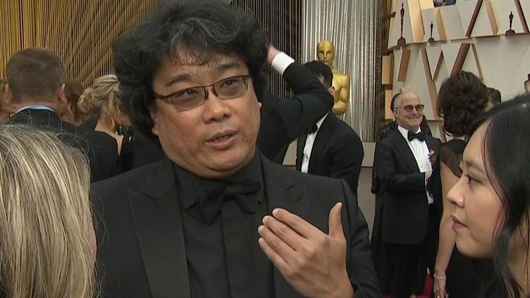 Bong Joon Ho's subtitled black comedy Parasite won the most Oscars of the night, taking home four in total.