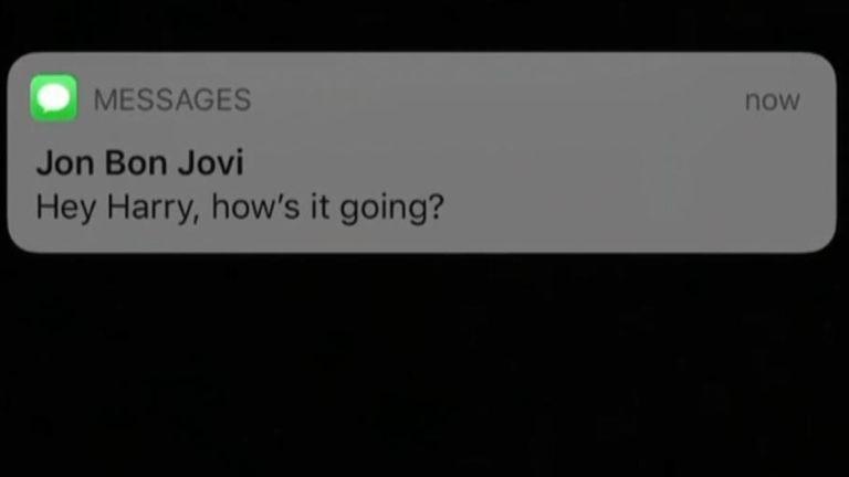 Jon Bonjovi textingf Prince Harry.