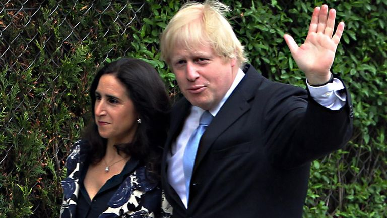 Boris Johnson and Marina Wheeler in 2012