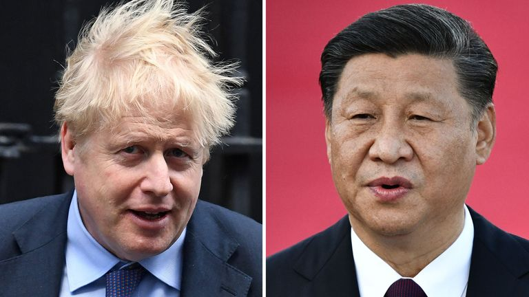 Boris Johnson and Xi Jinping have spoken on the phone