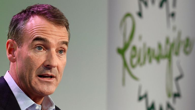 BP's new Chief Executive Bernard Looney gives a speech in central London 12/2/2020