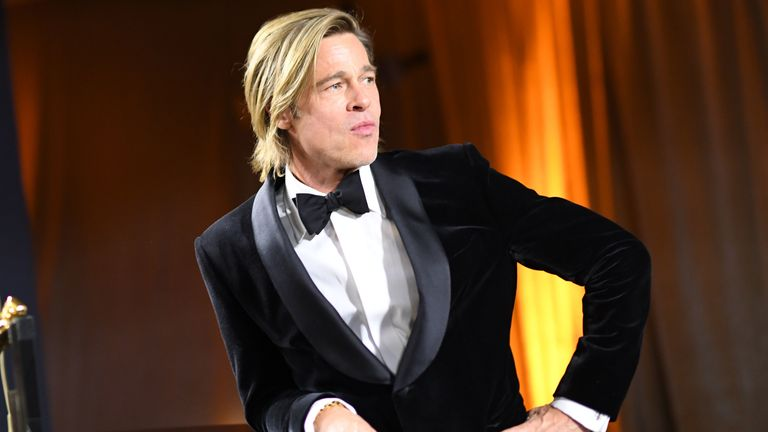 Brad Pitt won his first acting Oscar, and bought a little sass to boot