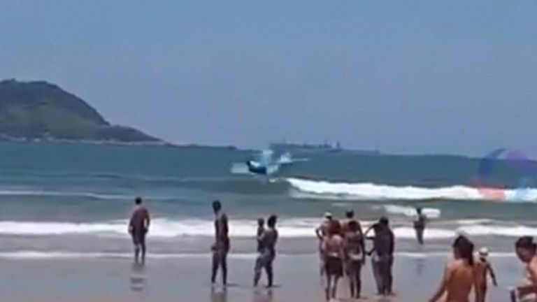 Tombo, Brazil, where the plane ditched