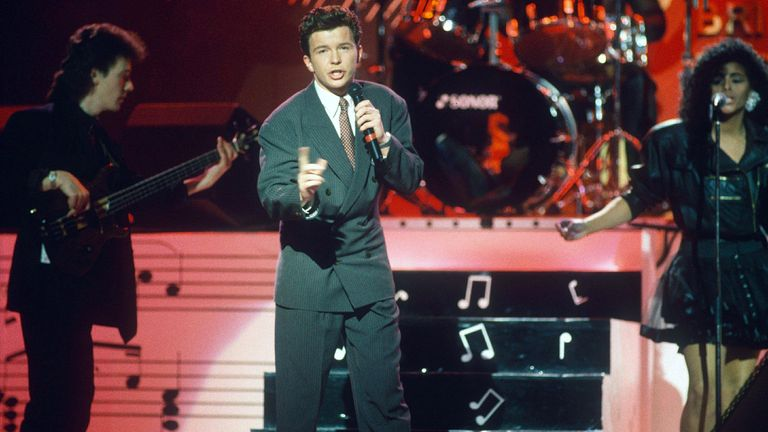 Rick Astley, 1988. Pic: Richard Young/Shutterstock