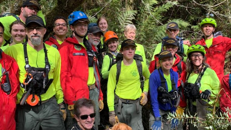 Hundreds of volunteers and search and rescue officials looked for the couple over seven days. Pic: Marin County Sheriff's Office