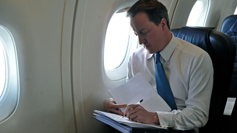 As a former prime minister David Cameron is entitled to continued security (file pic)