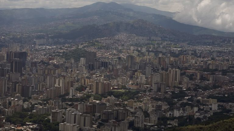 The alleged crimes took place in Maracay near the capital of Caracas (pictured)