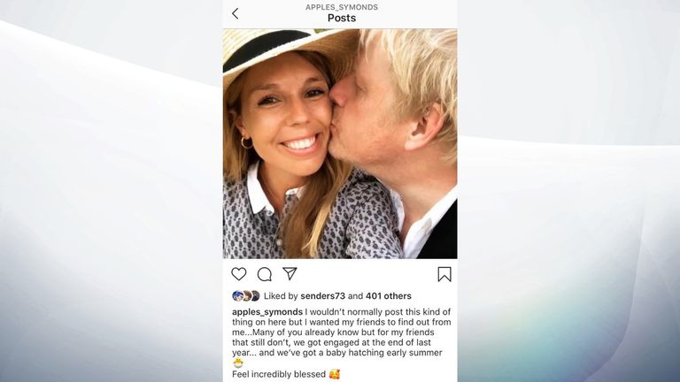 A post by Carrie Symonds on Instagram reveals they got engaged at the end of last year