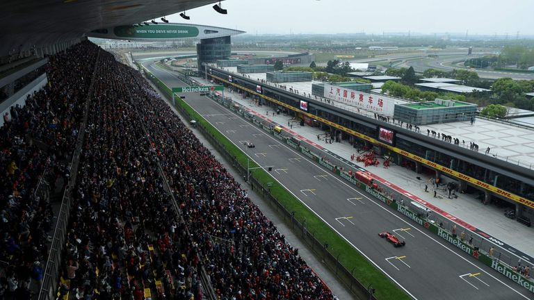 Formula One Chinese Grand Prix in Shanghai in April 2019