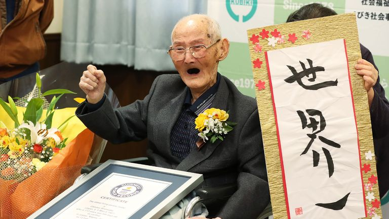 Chitetsu Watanabe was the world's oldest man until he died earlier this month aged 112