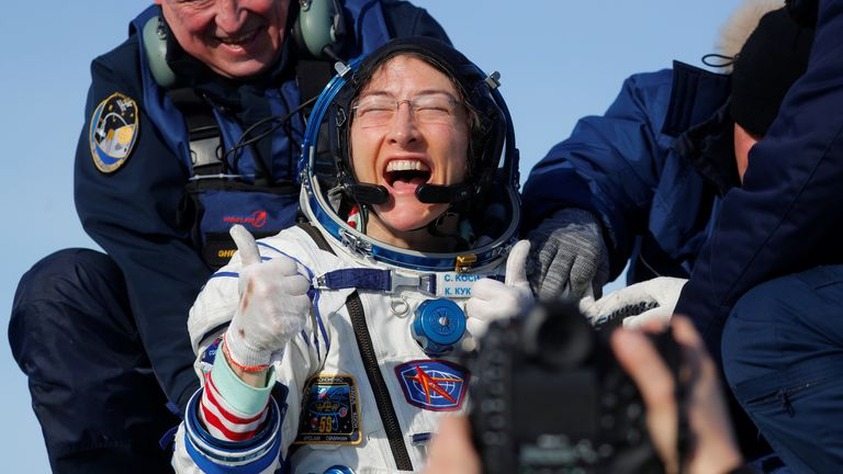 Record-breaking astronaut 'felt like a baby' after 11 months in space