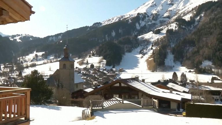 Five Britons staying in a chalet at a French ski resort have been diagnosed with coronavirus, the country's health minister has said.