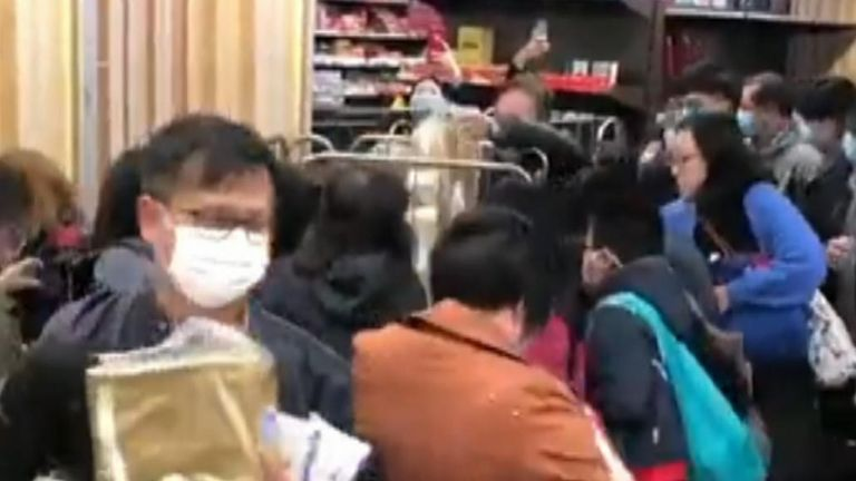 ong Kong Shoppers Panic Buy Amid Rumours of Shortages Due to Coronavirus