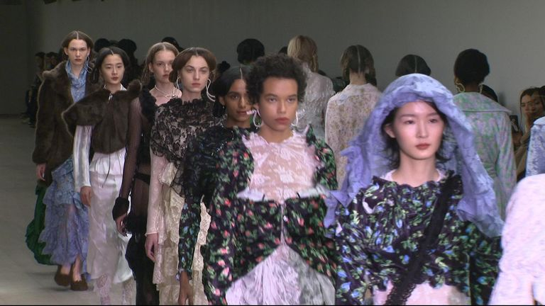 Designers were forced to alter their shows due to the coronavirus shutting down Chinese factories