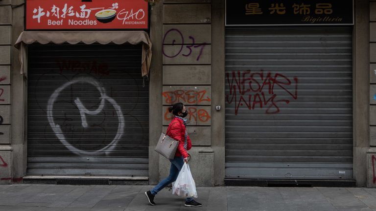 Many businesses in parts of northern Italy have shuttered their doors due to coronavirus