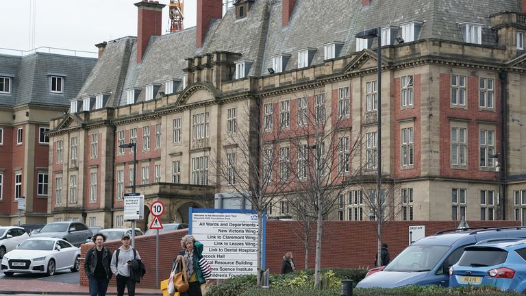 Two people confirmed to have coronavirus in England are being treated at the Royal Victoria Infirmary in Newcastle