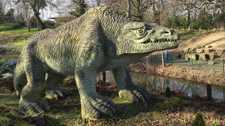 The dinosaurs are a well-known feature of the south London park