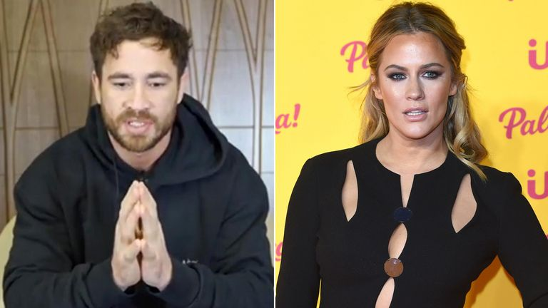 Danny Cipriani and Caroline Flack. Pic: Anthony Harvey/Shutterstock