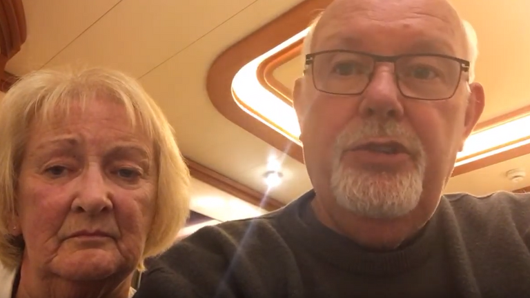 David Abel and his wife have been quarantined on board the Diamond Princess. Pic: YouTube/ David Abel