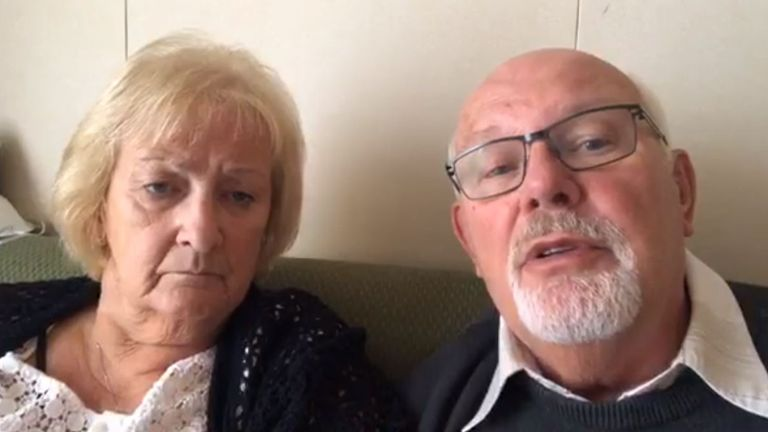 David and Sally Abel have been quarantined on the Diamond Princess cruise ship. Pic: David Abel/Facebook