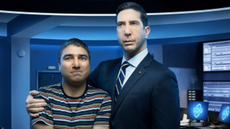 David Schwimmer and Nick Mohammed star in Intelligence. Pic: ©Sky UK Limited