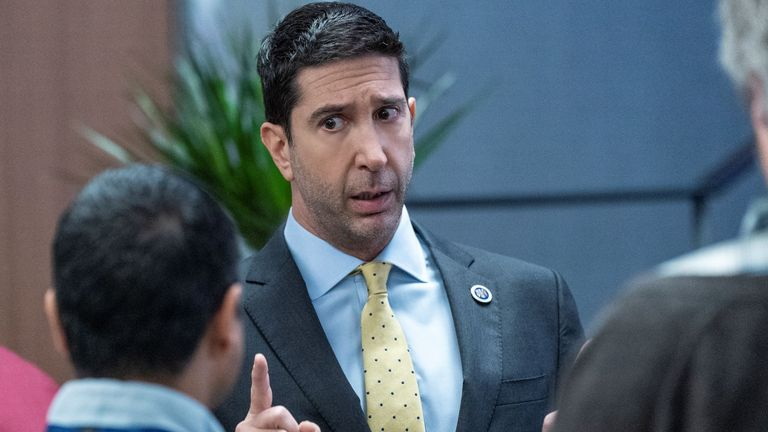 David Schwimmer stars in Intelligence. Pic: ©Sky UK Limited