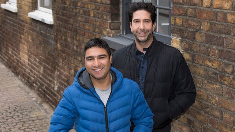 David Schwimmer and Nick Mohammed star in new GCHQ comedy Intelligence. Pic: ©Sky UK Limited