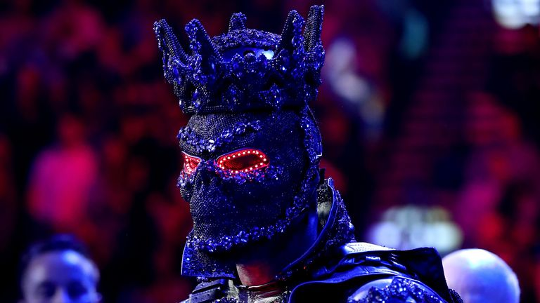 Deontay Wilder said his ring-walk costume was too heavy and weakened his legs