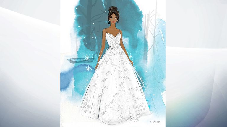 The Walt Disney Company  has teamed up with bridal boutique Allure Bridals for a new wedding dress range that replicates many iconic princesses. Pic: Allure Bridals