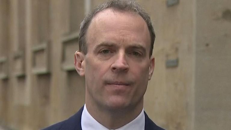 Dominic Raab says the UK wants to see justice for Harry Dunn and his family