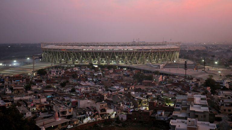 The cricket stadium Donald Trump is due to visit