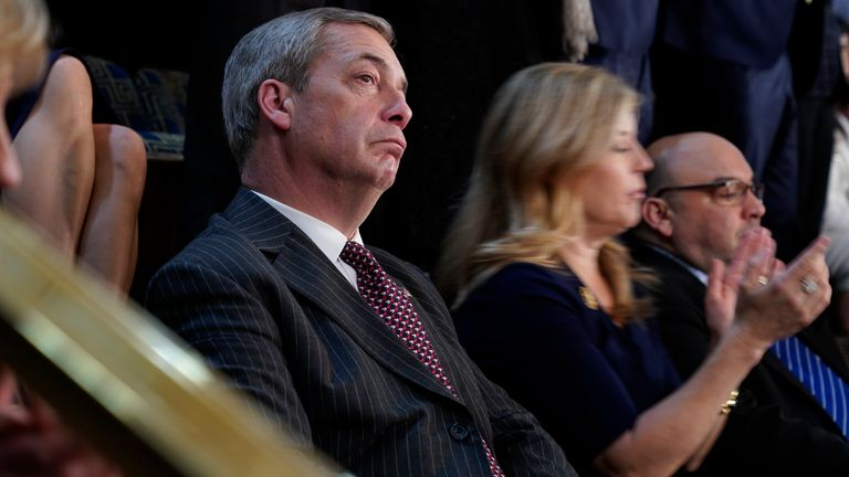 Nigel Farage was among those who attended the State of the Union in Washington DC