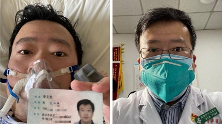 Dr Li Wenliang had been treating patients at his hospital. Pic: Dr Li Wenliang