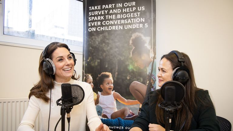Kate spoke to Giovanna Fletcher as part of her Happy Mum,  Happy Baby podcast