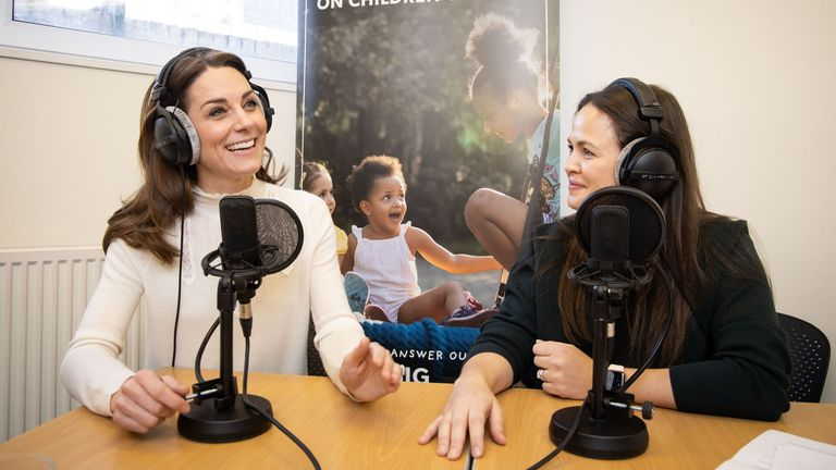 the Duchess of Cambridge and Giovanna Fletcher