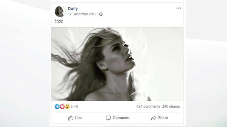 Duffy Facebook post