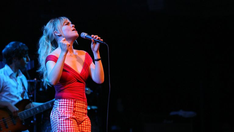 Duffy is seen performing in Amsterdam in July 2008