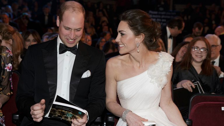 Prince William heard mention of several relatives over the course of the night