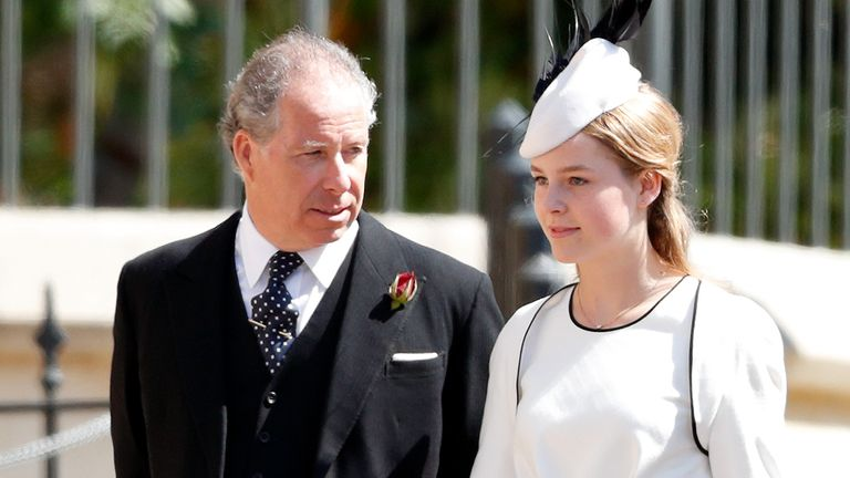 The Earl of Snowdon and his daughter, Margarita Armstrong-Jones, at Prince Harry's wedding