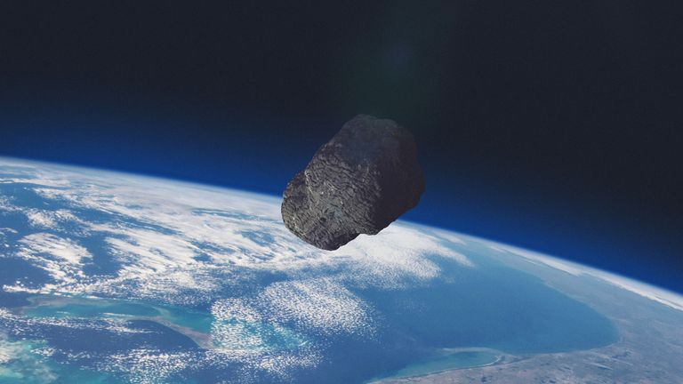 Asteroid outside Earth