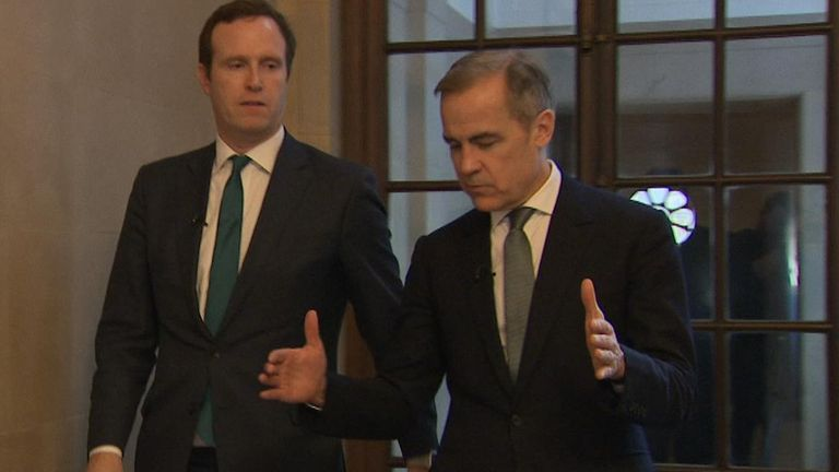 Sky's economics editor Ed Conway interviews Bank of England governor Mark Carney