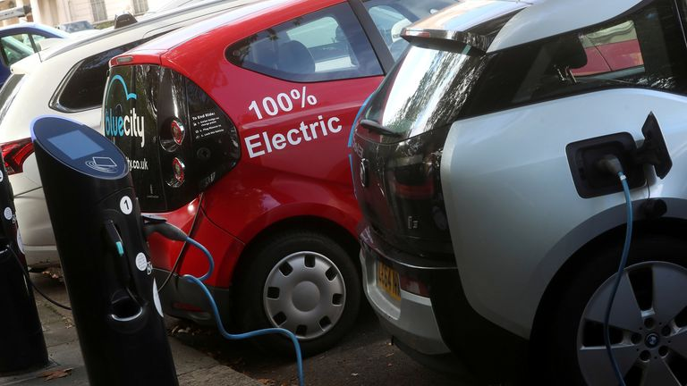 Charging points are growing in number but it's predicted 28,000 more will be needed by 2030