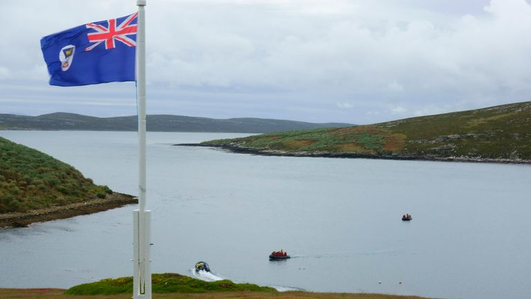 The flags of the Falkland Islands