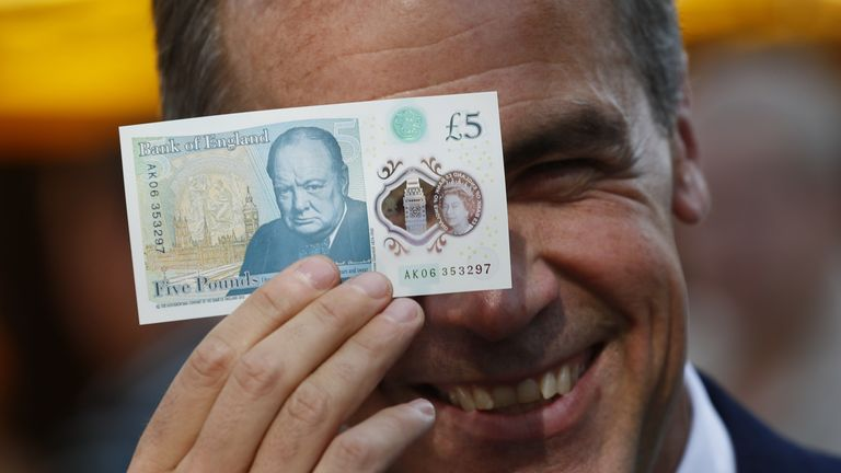 The humble fiver was the first banknote in the UK to get the polymer treatment