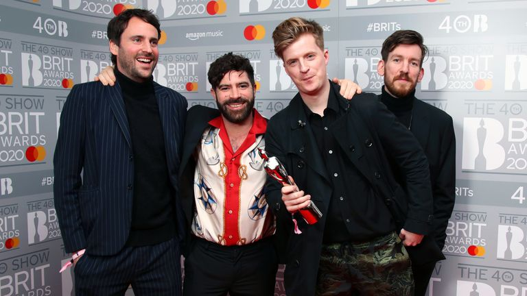 Foals at the Brit Awards