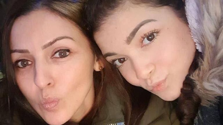 Giselle Marimon-Herrera, 37 and her 15 year old daughter Allison