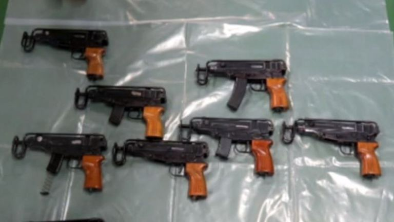 Hundreds of weapons like these have been taken of Britain's streets in the last 10 months. Pic: National Crime Agency