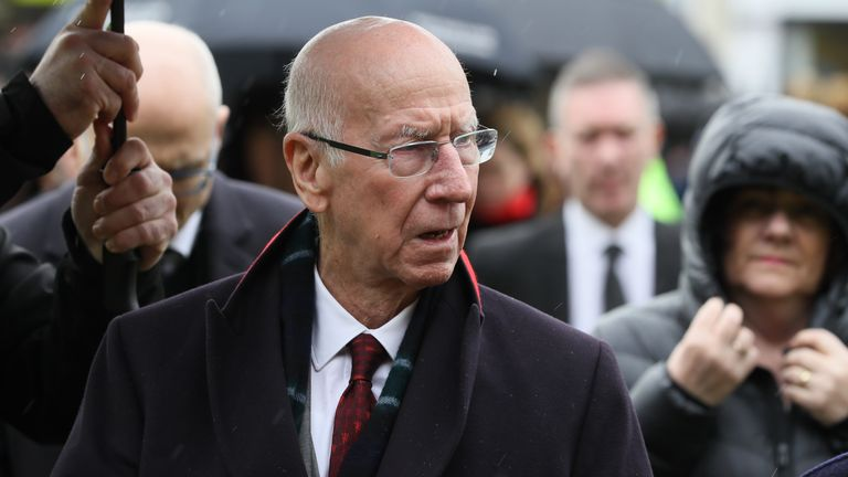 Sir Bobby Charlton was among the players Harry Gregg pulled out of the wreckage following the Munich disaster