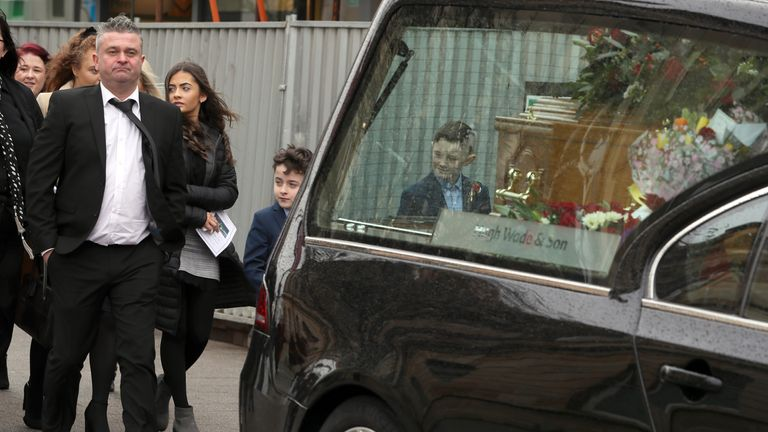 John-Henry Gregg described his father as a 'one-off' at his funeral