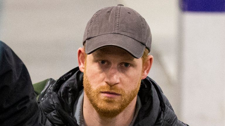 Prince Harry is back in the UK for the first time after disagreements about his future. Pic: Splash